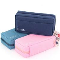 Buy cheap Canvas Multi - compartments Storage Stationery Student Pencil Pouches product