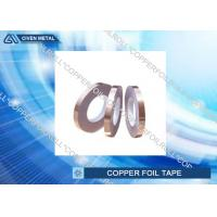 China Hot Melt Adhesive Copper Foil Tape , Single Sided copper conductive tape on sale