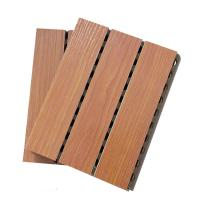 China MDF Studio Auditorium Wooden Grooved Acoustic Panel / Sound Absorbing Wall Panels on sale