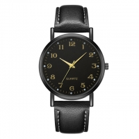 Buy cheap Leather Band Men Minimalist Waterproof Watch Zinc Alloy Material product
