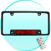 usa led car license plate holder led scroll display personalize your ride red 7 23 dots. Black Bedroom Furniture Sets. Home Design Ideas