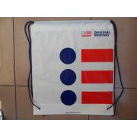 Quality Clothing Plastic Drawstring Backpack Promotional For Shopping / Sports for sale