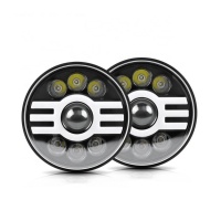 Buy cheap 75W 7 Inch Waterproof  DRL Halo Fog Lights Auto Accessories product
