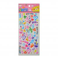 Buy cheap Cartoon Musical Instrument Design Party Stickers  Sing Songs Decor Room 1.8mm Thick Stickers product