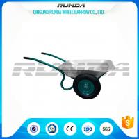 Buy cheap Galvanized Color Double Wheel Wheelbarrow 6CBF 1.2mm Tray Thickness 13.9kg from wholesalers