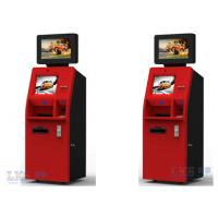 China Customer Service Banking ATM Kiosk , Money Automatic Teller Machine Red Color on sale