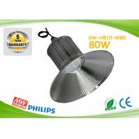 Buy cheap Silver Aluminum Energy Efficient High Bay Lighting High Lumen 80w product