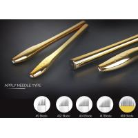 China 0.2mm Needle Manual Tattoo Pen , EO Gas Sterilized Golden Microblading Pen on sale