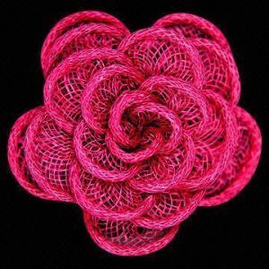 China la broche en forme de fleur avec le ruban, les conceptions adaptées aux besoins du client et les couleurs sont acceptées wholesale