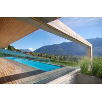 Buy cheap Outdoor u channel frameless tempered glass railing system design product