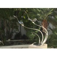 Buy cheap Metal Bird Abstract Yard Sculptures / Metal Wave Sculpture For Indoor Decoration from wholesalers