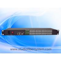 China 32 Port PCM Telephone To Fiber Optic Converter with 2Port 100M ethernet in 1U rack mount chassis on sale