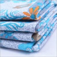 Buy cheap Rusha Textile  Knitting Printed Poly Spun Single Jersey Fabric Importers In Dubai product