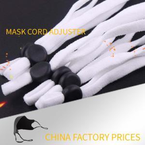 Buy cheap White Elastic Fastening Removable Plastic Cord Lock Stopper For Face Mask Bulk Order product