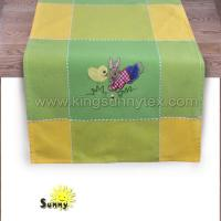 China Bunny Embroidery of Easter Table Cover in 2018 on sale