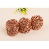 Buy cheap Gold Color Copper Scouring Pads Easy Carrying With Strong Cleaning Power product