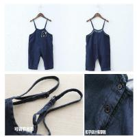 Buy cheap Dark Blue Baby Boy Overalls Jeans With Suspenders European American Style product