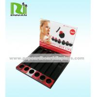 China Retail Cardboard Counter Displays Paper Lipstick Store Display Racks With Holes on sale