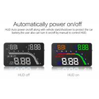 Buy cheap Multicolor 4 Inch Windshield Heads Up Display LED Speedometer OBD2 Interface product