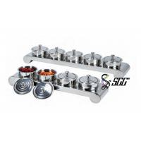 Buy cheap Durable Stainless Steel Condiment Jars With Stand for Restaurant catering display stands from wholesalers