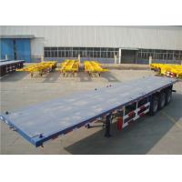 Carbon Steel Flatbed Semi Trailer 40000kg With Dual Line Braking System