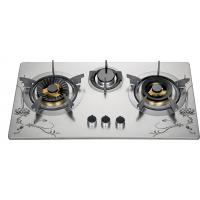 Buy cheap 72cm Three Burner Gas Cooktop , Stainless Steel 3 Burner Gas Stove For Kitchen product