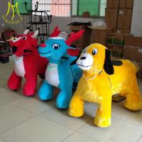 China Hansel  2seater kids ride on electric car battery operated plush animals kids rides amusement park on sale