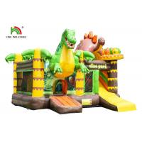 China Customized Size Dinosaurs Inflatable Bounce House / Toddler Bouncy Castle With Slide on sale