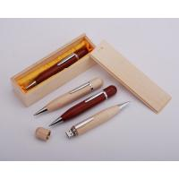 China eco usb wood pen flash drive with free logo engraved on sale