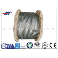 China Strong Galvanized Steel Wire Rope , Aircraft Grade Wire Rope Anti Rotation For Heavy Machinery on sale