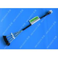 Buy cheap Blue SFF 8643 To 4 SATA SAS Hard Drive Cable Fanout 12gbps Flexible Design product