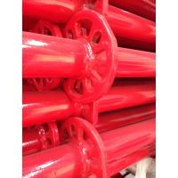 Buy cheap Ringlock scaffolding vertical red powder coated product