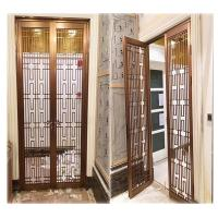 Buy cheap hotel indoor stainless steel screen room divider metal door partition made in china product