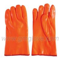 China Fluorescent PVC Chemical Resistance Gloves, Cold Weather Proof on sale