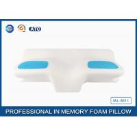 China Unique Gel Memory Foam Wedge Pillow , 25.6X14.17X5.51 Inch Cooling Gel Bed Pillow wholesale