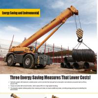 China SANY XCMG  Hydraulic 120 Ton Mobile Crane / Off Road Crane Energy Saving RT120U on sale