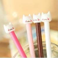 Quality customized yiwu stationery cat plastic ball-point pen office&school beautiful cheap funny pen for sale