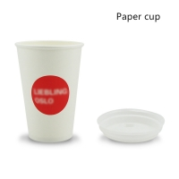 China Compostable PLA Lined 280gsm Bamboo Fiber Paper Drinking Cups on sale