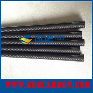 Buy cheap Superficie brillante del mejor de la calidad de la fibra de carbono diámetro de los tubos/mate de encargo product