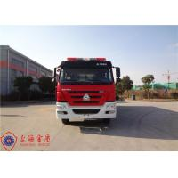 Foam Fire Service Vehicle 10180×2500×3650mm Dimension With Double Row Structure Cab