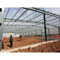 China Welding galvanized prefabricated light steel workshop building light gauge steel structure construction on sale