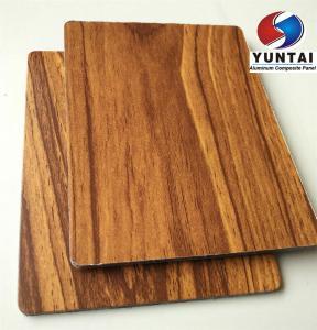 Buy cheap o PE de madeira da superfície da textura do painel composto de alumínio de alta qualidade revestiu o melhor material da decoração interior product