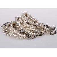 Buy cheap Multi Strand Delicate Fashion Faux Pearl Bracelets Costume Jewellery For Wedding product