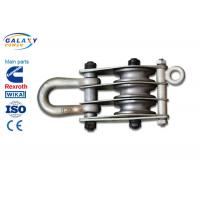 Alternative Steel Wire Rope Pulley Block , Stringing Iron Rope Pulley Block