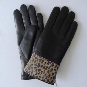 China soft fashion classical genuine sheepskin lamb skin leather women gloves on sale