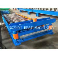China Metal Roofing Galvanized Aluminum Corrugated Steel Sheet Forming Making Machine 8-12m/min Speed on sale