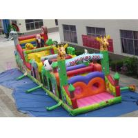 Buy cheap Colorful 0.55mm PVC Wild Animal Blow Up Obstacle Course For Outdoor Sport Games product