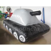 Buy cheap 0.6mm / 0.9mm PVC Tarpaulin Fabric  Inflatable Military Tank for Paintball Sport product