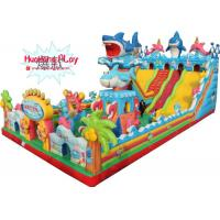 Buy cheap Large Size Outdoor Childrens Inflatable Bounce House With Slide Shark Jumping product
