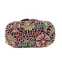 Round Shape Diamond Evening Bag , Famale Rainbow Evening Party Purse